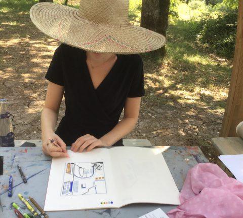 Malen im Château Plagne , ein Workshop vom 20.07.-27.07.2019
